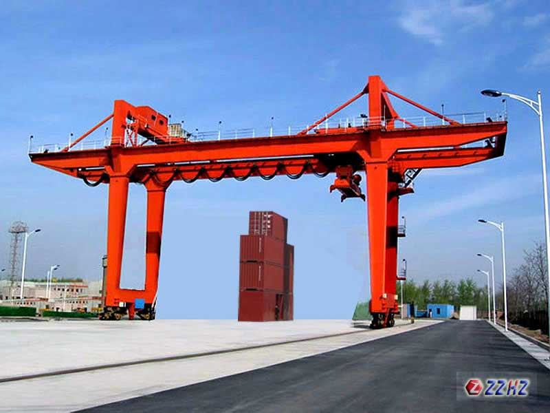 container gantry crane rail type main Product display rail mounted container gantry crane rail mounted container gantry crane usually used in inland port, container yard, railway freight station, coastal  shandong kaiyuan heavy machinery co, ltd.